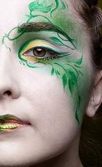 Green fairy makeup