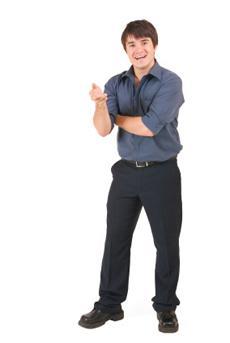 man wearing shirt and pants