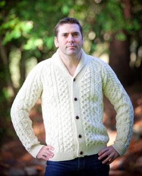 Aran Islands Knitwear Shawl Cardigan