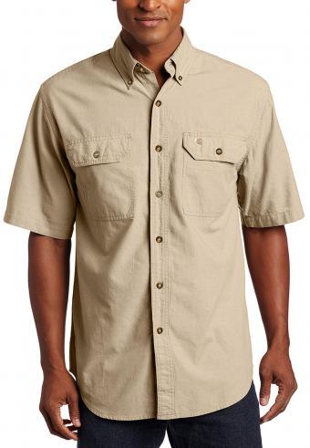 Carhartt Men's Fort Short-Sleeve Lightweight Chambray Shirt