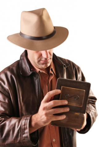 man in dark brown leather jacket