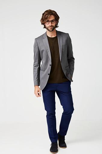 guy wearing gray jacket