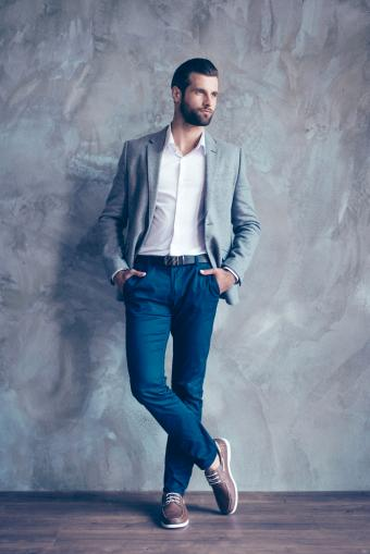 Classic men's outfit with mixed colors