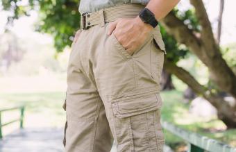 Men wearing cargo shorts