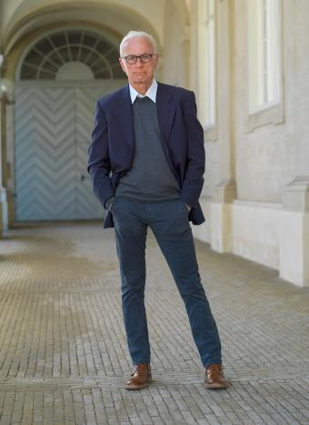 Senior man in straight leg trouser