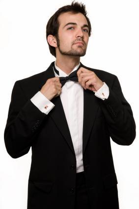 Man in a tuxedo for black tie dress code