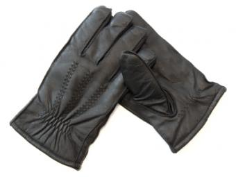 Pair of leather cuff gloves