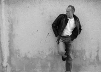 Man wearing rockabilly style clothing