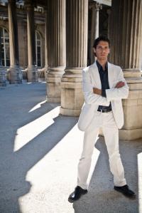 Mens White Linen Suit