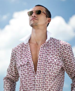 Man in summer shirt