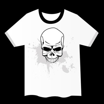 Image of a horrible skull T-shirt