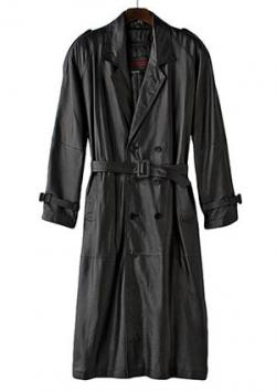 Excelled Nappa Leather Trench Coat