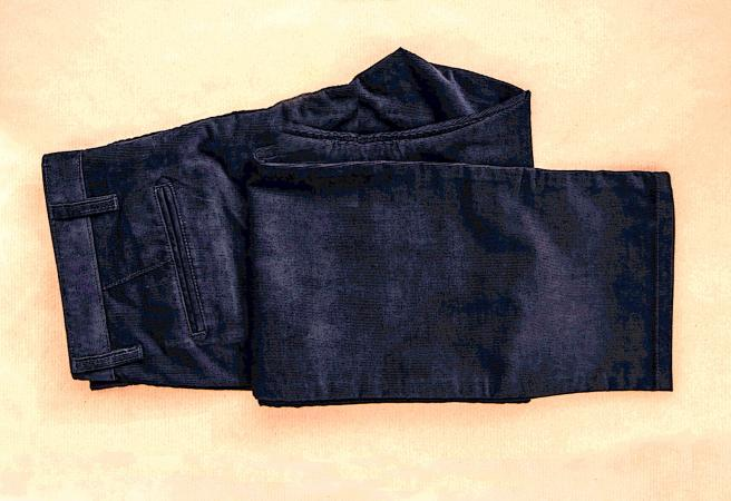 men's blue denim slacks