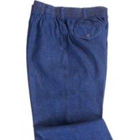 Pair of man's elastic waist denim slacks