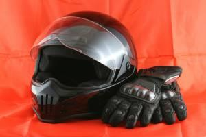 helmet and gloves