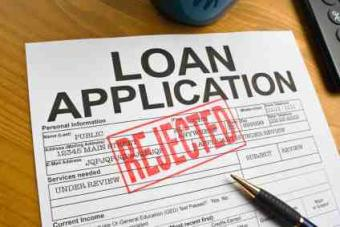 Rejected loan application