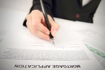 Filling out mortgage application