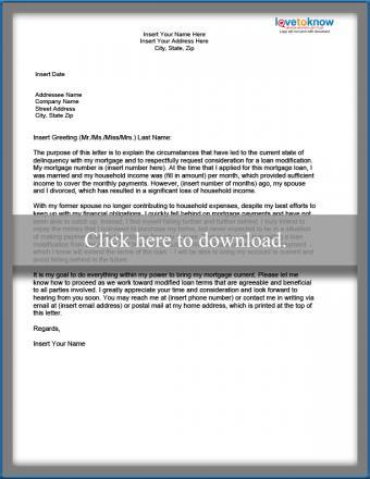Hardship Letter - Divorce