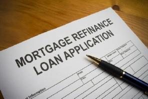 Mortgage refinance application
