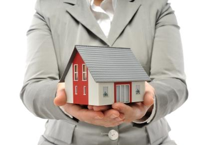 Lender holding a home