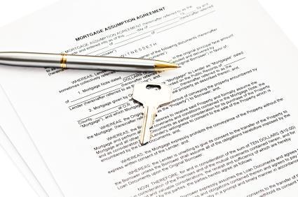 Mortgage assumption paperwork