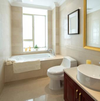 Modern remodeled bathroom