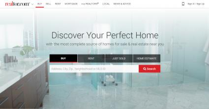 Screenshot of Realtor.com