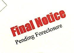 Final notice of pending foreclosure