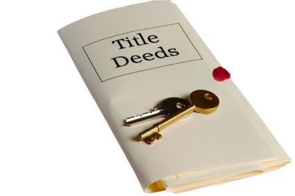 Deed Folder and Keys