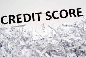 Credit score and shredded documents