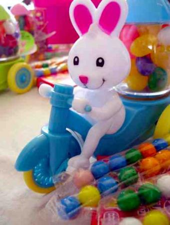 The Easter Bunny sells Easter movies