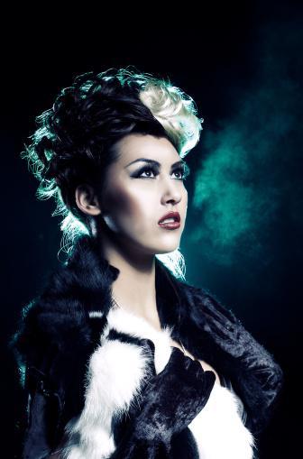 Woman Dressed Up As Cruella De Vil