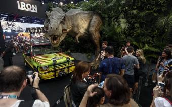 Jurassic Park display Sao Paulo Brazil