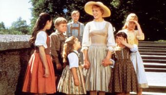 Julie Andrews is Maria in the Sound of Music