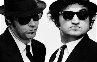 Dan Ackroyd and Jim Belusi are the Blues Brothers
