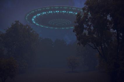 Ufo over trees