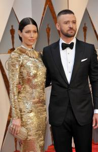 Justin Timberlake with wife Jessica Biel