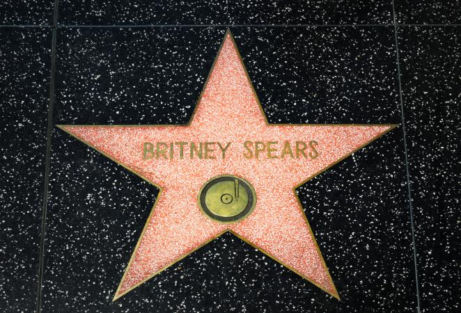 Britney Spears star on Walk of Fame