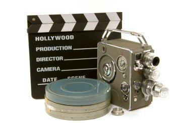 Action sign, camera and film