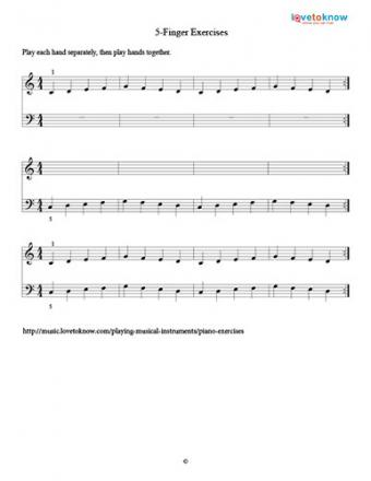 5-Finger Piano Exercise