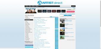 Screenshot of ArtistDirect website