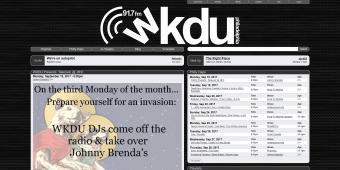 Screenshot of WKDU