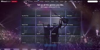 Screenshot of iHeart Radio