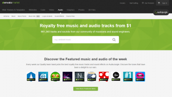 Audio Jungle homepage screenshot