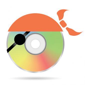 Colored pirate disc