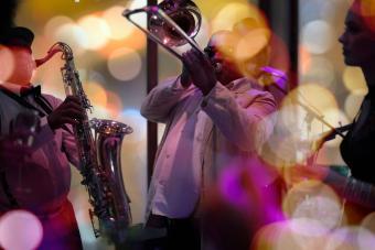 members of jazz band playing music