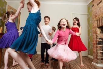 Kids dancing at birthday party