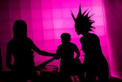 punk rock band silhouette