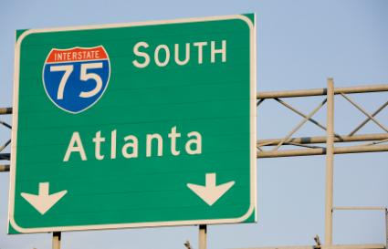Atlanta road sign