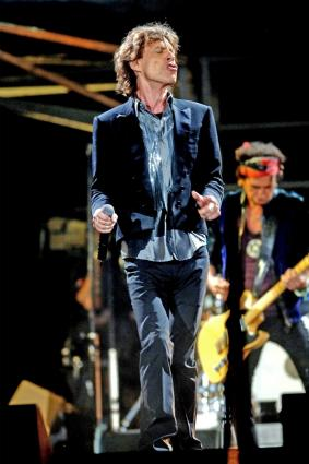 Mick Jagger with The Rolling Stones